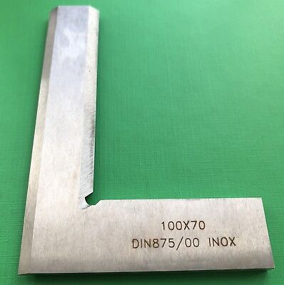 25 x20mm Precision Bevel Edge Square Grade 00 Stainless Steel DIN875 WTAGTAG