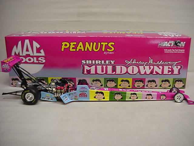 Muldowney Shirley Peanuts Mac outil TOP FUEL National Hot Rod Association Dragster ACTION 1 24 Diecast