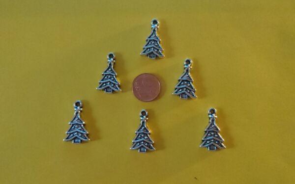 6x Tannenbaum Natale Decorazioni Natalizie Miniature Bambole Tube 1:12 Casa Delle Bambole-uck Miniatur Puppenstube 1:12 Puppenhaus
