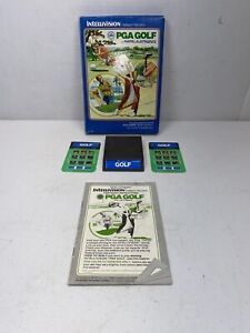 PGA-Golf-Intellivision-Complete-Game-w-Game-Box-amp-Keypad-Covers-Free-Ship