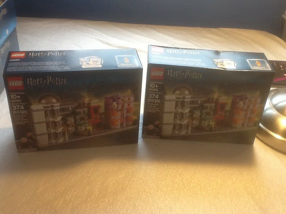 Lego Harry Potter Diagon Alley  40289 Damaged Box Sealed X2 Free Shipping