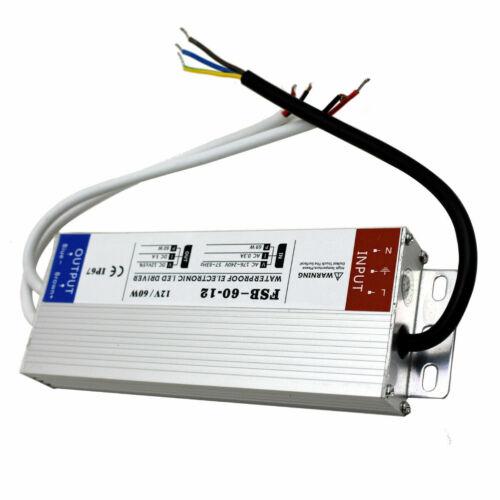 DC12V DEL Transformateur Alimentation Étanche IP67 étanche à la pluie IP45 pour les bandes DEL