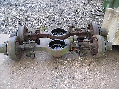 M35 Military 2.5 ton Rockwell Rear Axle Bare Housing with Hubs and Drums Used