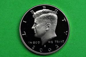 2003 S Kennedy Half Dollar Gem Deep Cameo 90/% Silver Proof