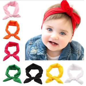 10PCS Kids Girls Baby Headband Toddler Turban Bow Knot Hair Band Accessories Lot
