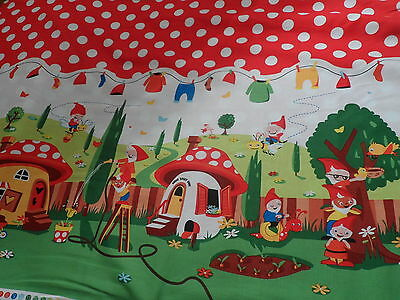 Michael Miller Gnomeville  Fabric Material Red Polka Dot Gnomes By HALF METRE
