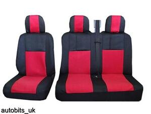Mercedes Sprinter Heavy Duty Impermeable van Cubierta de asiento negro 2+1 06-ON