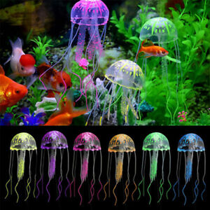 Image Is Loading Soft Silicone Glowing Artificial Jellyfish Fish Tank Decor