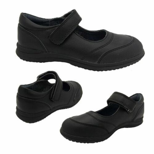 Girls Shoes Grosby Wattle Black Leather Mary Jane School Shoe NEW Sizes 10-3