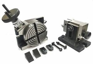 4-034-100-MM-ROTARY-MILLING-INDEXING-TABLE-SUITABLE-TAILSTOCK-amp-M6-CLAMP-KIT