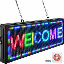 Vevor 7color Led Scrolling Sign 40x15 Programmable P10 Messgae Board With Sling