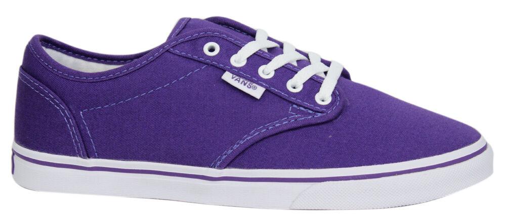 Vans Atwood Niedrig Unisex Leinen Geschnürt purple Turnschuhe Leinenschuhe NJO5SY