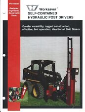 Equipment Brochure Worksaver Hydraulic Post Driver For Skid Steers E4737