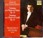 Rachmaninov: Variazioni Su Un Tema Di Chopin & Corelli / Francesco Nicolosi - CD