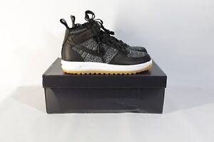 new styles 0ba7d ef954 Image is loading Nike-Lunar-Force-1-Flyknit-Workboot-Black-White-