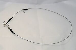 10-X-Size-6-Semi-Barbed-wire-Trace-Pike-Fishing-Dead-Bait-Rig