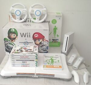 WII-CONSOLE-MARIO-KART-EDITION-WII-FIT-BOARD-GAMES-A-FREE-YEARS-WARRANTY