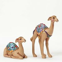 Jim Shore Heartwood Creek Set Of Two Camels-mini Nativity Figurine 4.25 In, New,