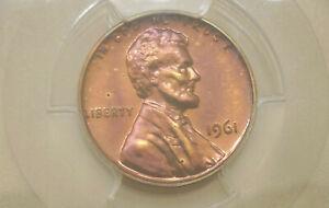 1961-PCGS-PR-66-RB-proof-Lincoln-Memorial-cent-PURPLE-TONED-gem