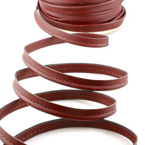 Passepoil en cuir synthétique bordeaux Bordeaux lederimitatpaspel KEDER Passepoil