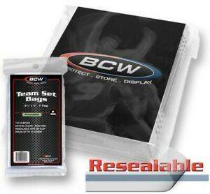 BCW-Resealable-Team-Set-Trading-Card-Bags-3-3-8-034-x-5-034-1-034-Flap-Qty-10-000