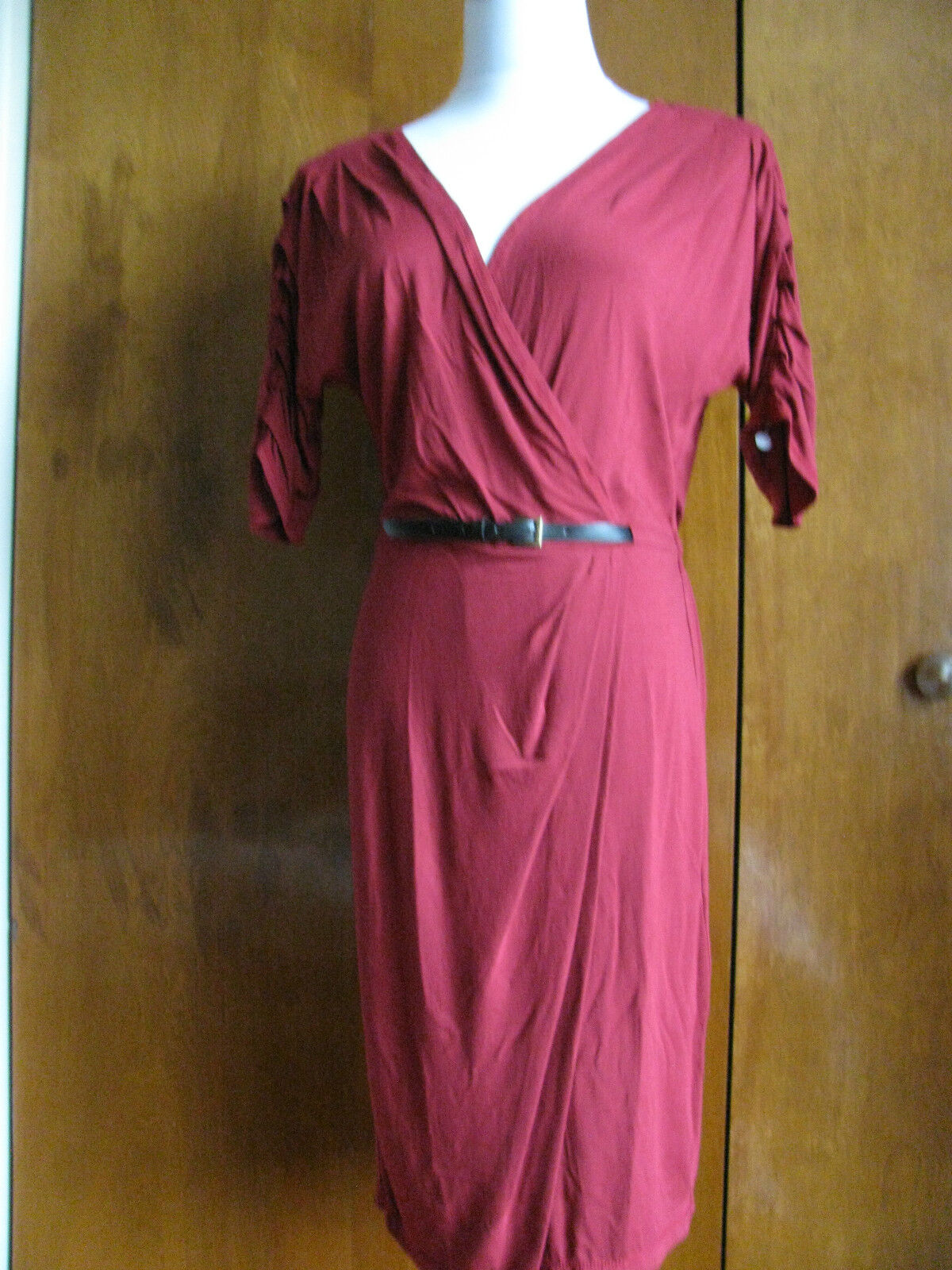 Max Studio women's raspberry viscose dress size medium