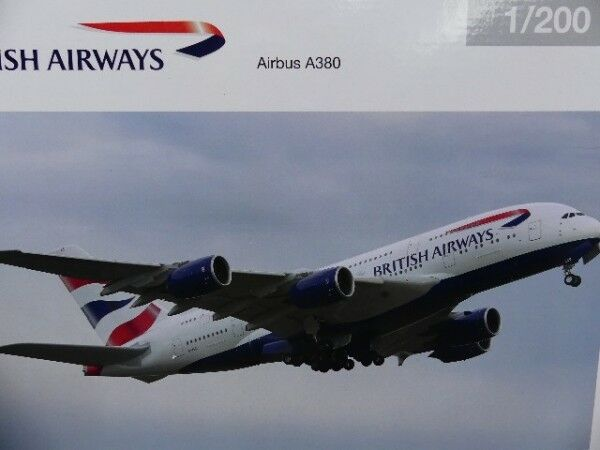 1 200 Herpa British Airways Airbus A380 556040-001