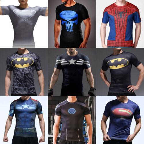 Men Women Marvel DC Superhero Comics Jersey Top Outdoor Sport T-Shirt Cycling