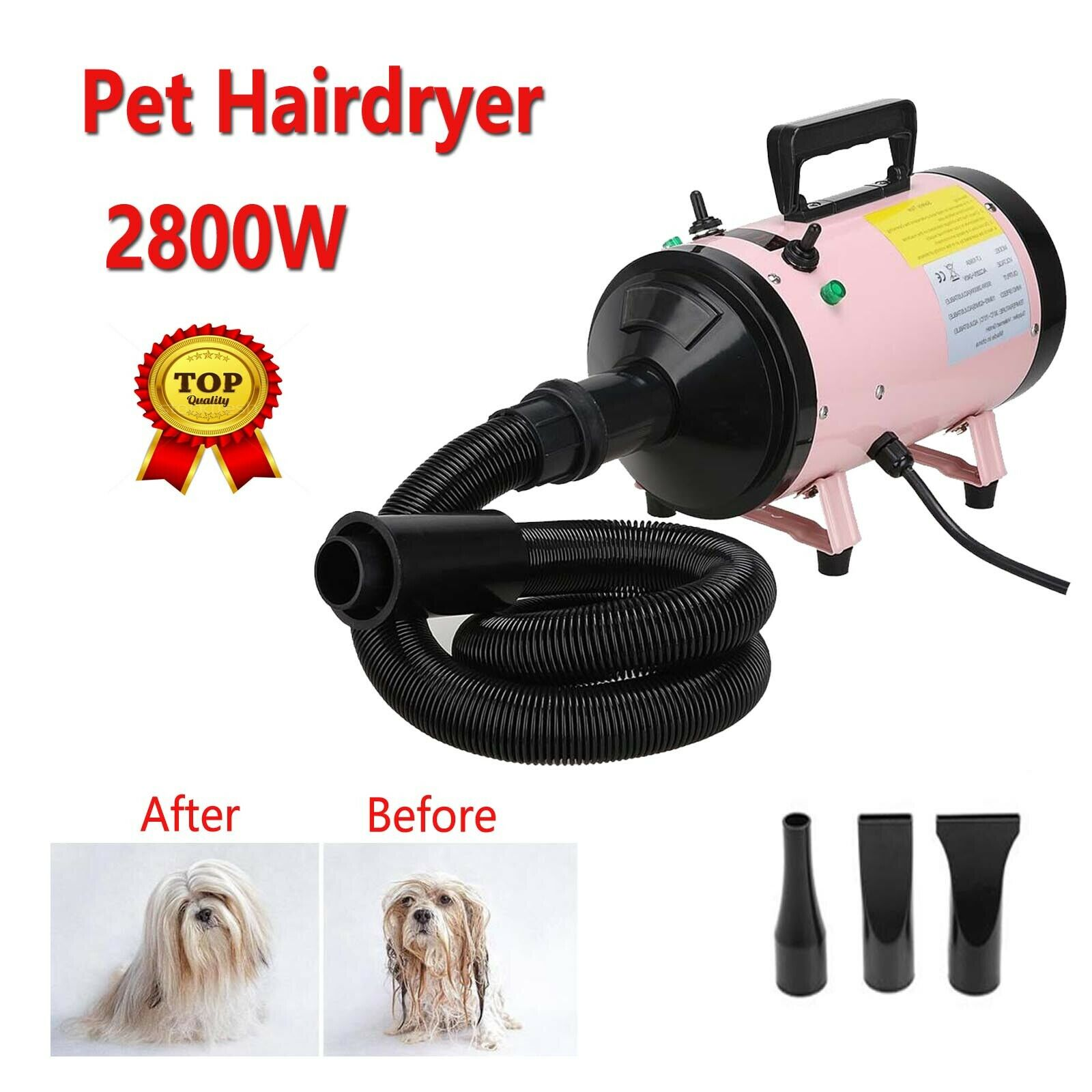 Powerful 2800W Dog Pet Grooming Hair Dryer Professional  Blaster Low Noise