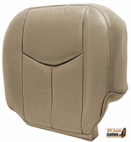 2003 2004 Chevy Silverado LT LS Z71 Front Driver Bottom Leather Seat Cover Tan