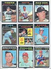 Lot of (78) 1971 Topps Autographed Signed Baseball Cards (6) DECEASED