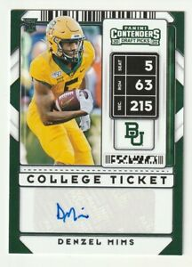 2020-Panini-Contenders-RC-AUTO-Denzel-Mims-College-Ticket-JETS-Baylor-153