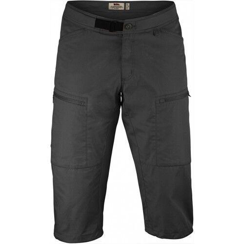 Scendendo Räven Abisko Shade Pantaloncini 34  lunga Trekre Pantaloni per uomo dark grigio