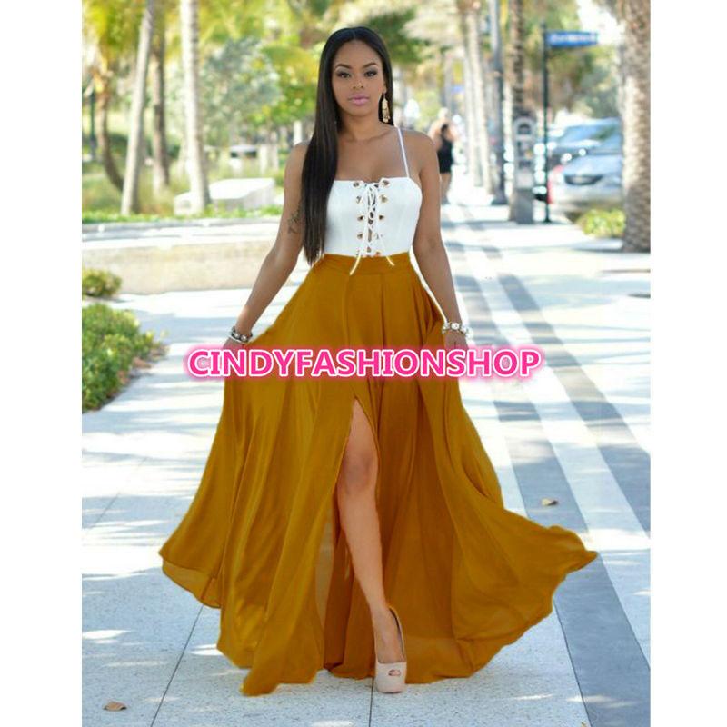 White Long Beach Dress