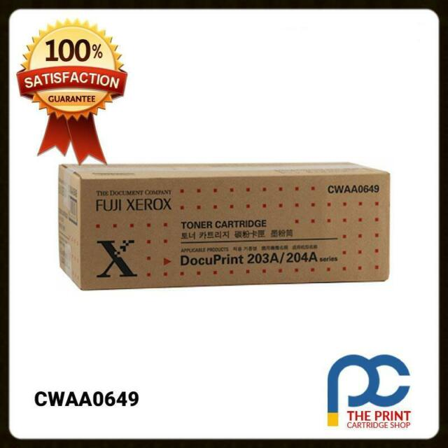 New & Original Fuji Xerox CWAA0649 Black Toner Cartridge DocuPrint 203A 204A 12K