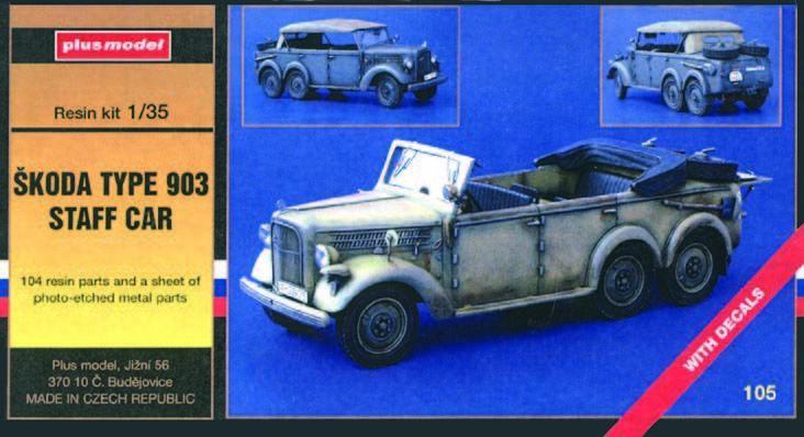 Plus Model 105 - 1 35 Resin Bausatz Skoda 903 Dienstwagen  | Elegante und robuste Verpackung
