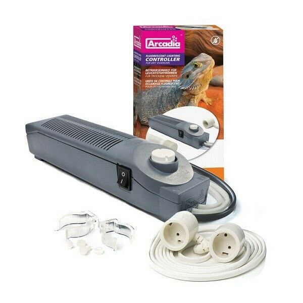 ARCADIA 25-30w DRY VIVARIUM T8 FLUORESCENT LIGHTING CONTROLLER  0844046002501