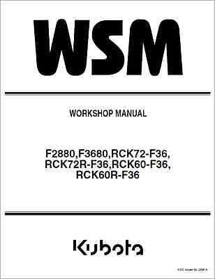 Kubota F2880 F3680 Front Cut Ride On Mower Workshop Manual Be Shrewd In Money Matters b280
