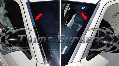 05-10 Chrysler 300 300C Front Window Wind Shield Deflector Trim Stainless Steel