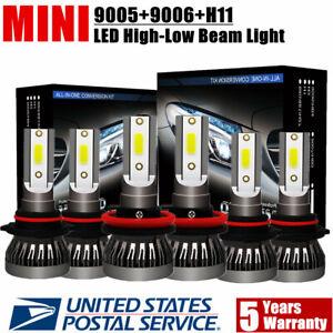 Mini-Combo-9006-9005-H11-LED-Headlight-Kit-Hi-Low-Beam-Bulb-6000K-780000LM
