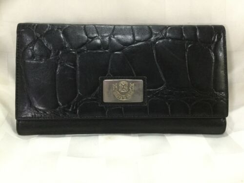 Boots 'N Bags Trifold Women's Wallet Black Alligat