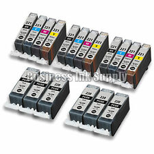 18 PACK PGI-220 CLI-221 Canon PGI-220 BK CLI-221 C/M/Y/BK Ink Cartridge NEW CHIP