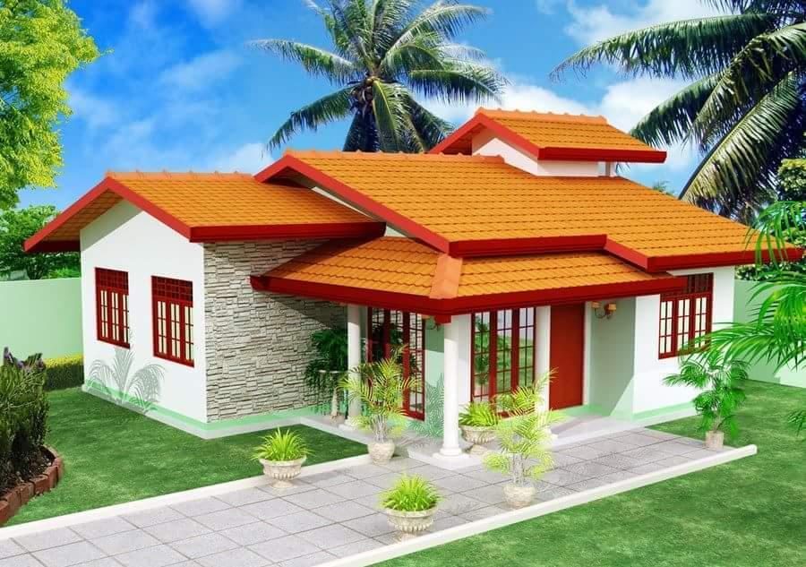 House Plan Custom Home Design,980 SF 1-story Complete House Plan Blauprints /PDF