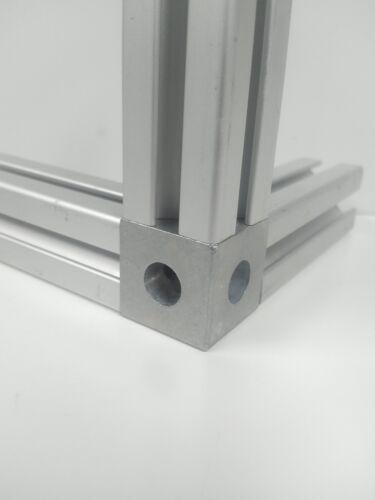 8020 Inc équivalent Zinc Die-Cast-Square Tri Angle Connecteur Série 10 4042