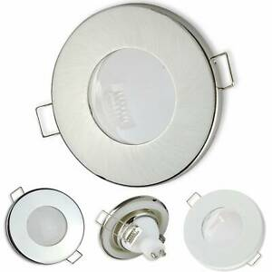 LED Einbaurahmen IP44 rund GU10 MR16 Badezimmer Außen Einbaustrahler Dusche