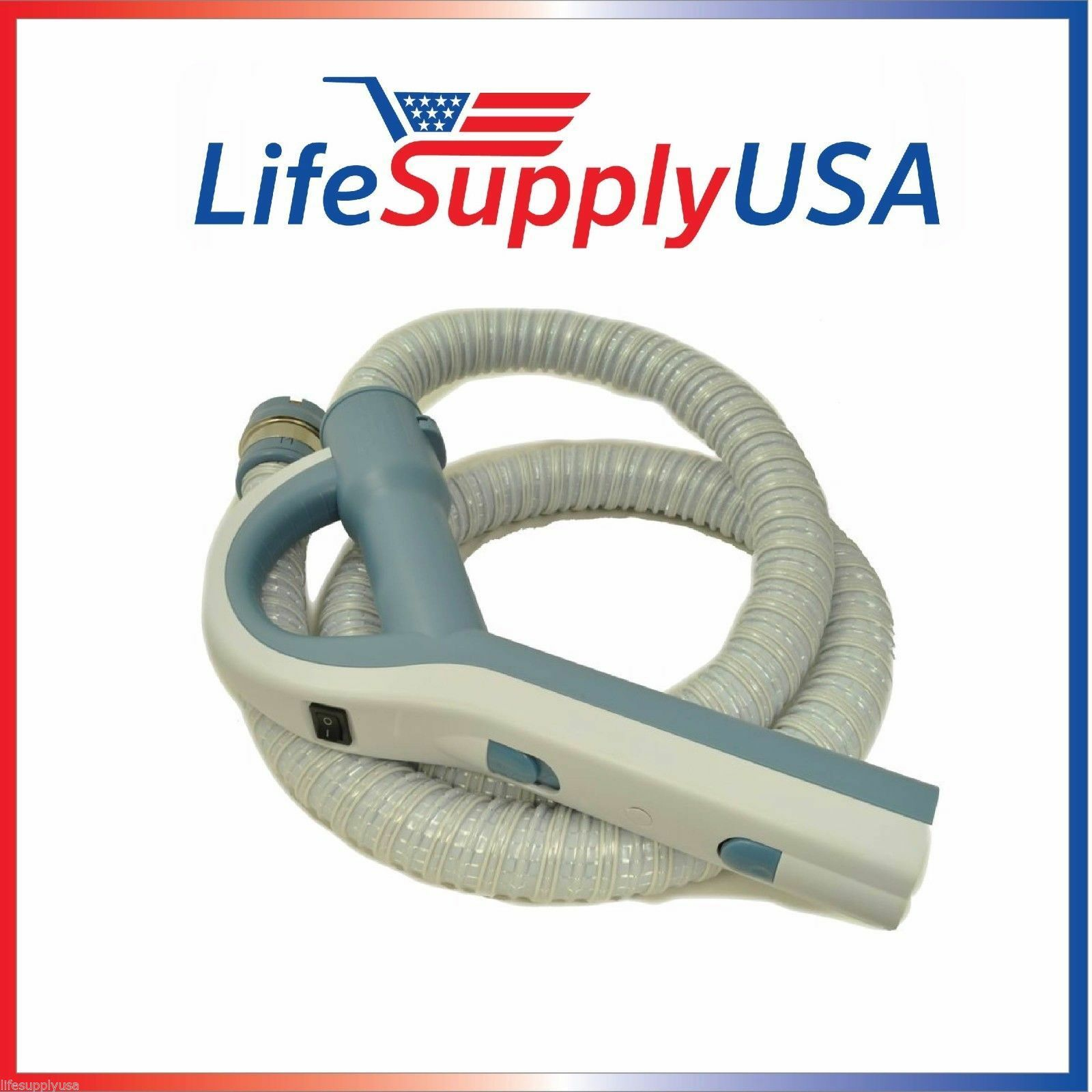NEW Electric Vacuum Hose to fit Lux Epic Aerus Legacy 5000, 6000, 6500SR (blueeeE)