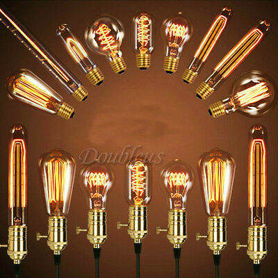 Filament Light Bulb Edison Vintage Squirrel Cage Decorative Antique Industrial