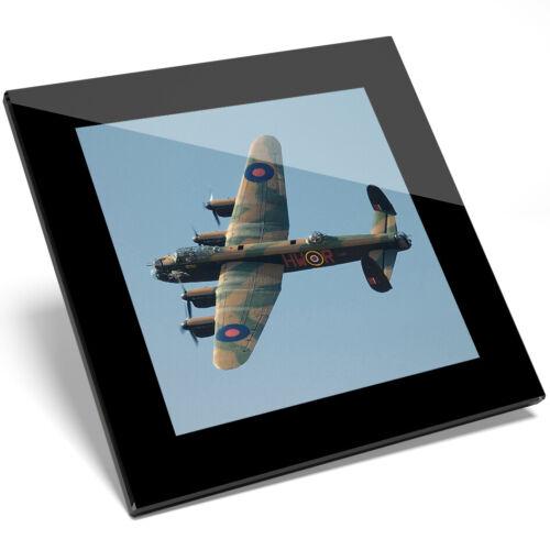 Kitchen Student Gift #13086 1 x Avro Lancaster Bomber Plane Glass Coaster