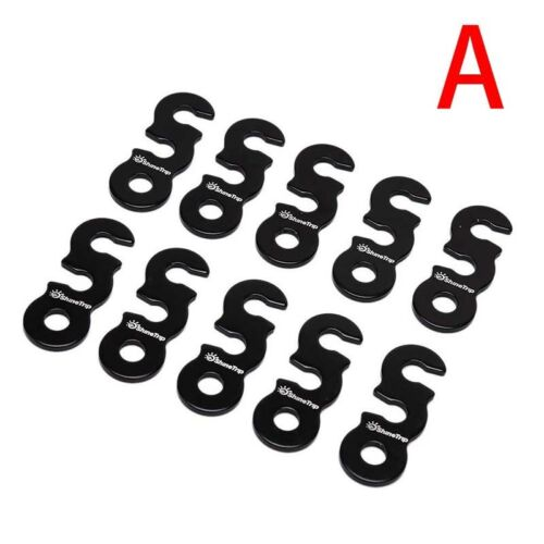 10pcs Aluminum Quick Release Camping Wind Rope Adjuster Tent Rope Tightener  I