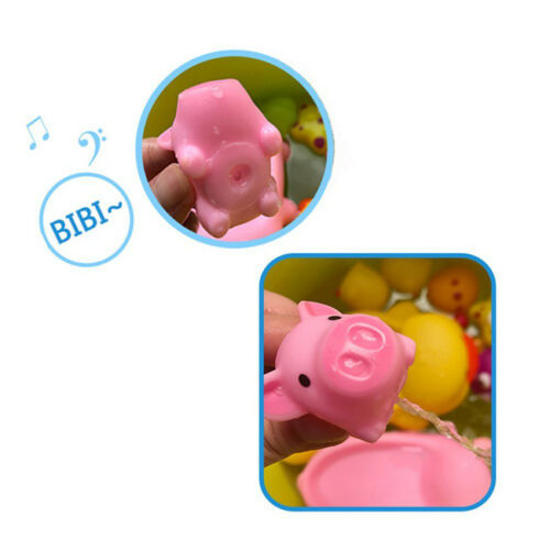 10pcs Pink A Little Lemon Rubber Pig Baby Bath Toy for Kid Baby Children S